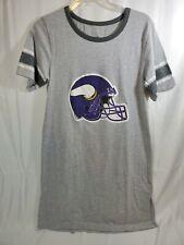 Ladies  New Minnesota Vikings Grey Medium Sleepshirt/ Lounge Dress