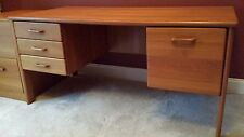 Vi-Ma Mobler Danish Teak Full-size Desk with File Drawer and Three Box Drawers