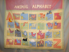 POTTERY BARN KIDS INTERACTIVE ANIMAL ALPHABET WALL HANGING KIDS ROOM EUC