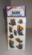 Vintage 1983 NFL Los Angeles L.A. Rams Mascot Huddles Puffy Stickers Sealed Pack