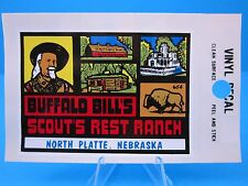 "VINTAGE... ""BUFFALO BILL'S SCOUT'S REST RANCH - NEBRASKA"" STICKER / DECAL  (NOS)"