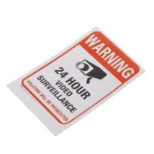 Surveillance Security Camera Video Sticker Warning Sign W6F3 D Stickers M0N7