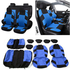 3D Air Mesh Fabric Car Seat Covers Set - Universal Auto Seat Protectors 9Pcs/Set