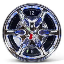 Neon Rim Alloy Wheel Shaped Wall Clock For Home New