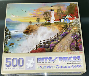 Bits and Pieces Lighthouse Park 500 Piece Jigsaw Puzzle David Maclean Artwork