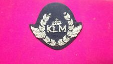 KLM Airlines Flight Pilot Caps Wings Badge Silber Bouillon 60er Jahre