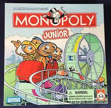 Monopoly Junior Board Game 2005 Parker Brothers Roller Coaster COMPLETE Ages 5-8