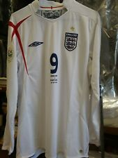 Authentic Umbro 2006 England Rooney L/S Jersey  Portugal Germany World Cup