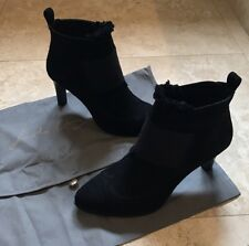 Lola Cruz Black Suede Boot Heels. Size EU 37. UK 4. New!