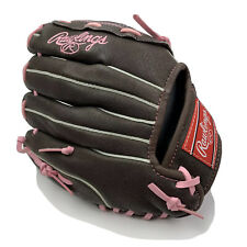 """Rawlings FP100 FastPitch 10"""" Youth Softball Glove Brown/Pink Right Hand Thrower"""