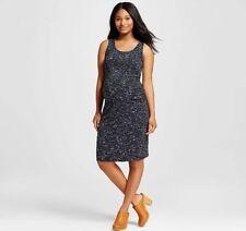 Liz Lange Maternity Black Ebony Space Dye Tank Sleeveless Dress MEDIUM M NEW