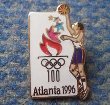 OLYMPIC ATLANTA 1996 BASKETBALL ENAMEL PIN BADGE