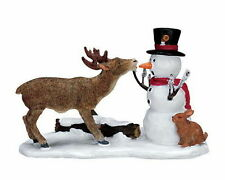 Lemax Decoration 'Snack Time', Christmas Cake Decorating Reindeer Snowman Figure