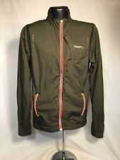 Craft Brand L3 Protection Mens Running Jacket Green Black Color Polyester Medium