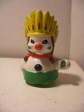 Vintage PVC RODA VOINSON BOULI Le BONHOMME de NEIGE Snowman Chef Indien