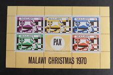 Malawi 1970 Christmas MS368 miniature sheet MNH UM unmounted mint never hinged