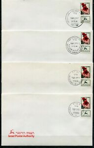 Judaica 23 Event Covers Anemone Flower stamps all different 1994 x40191