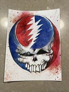 Exclusive Grateful Dead Heady Skull ScreenPrint Sticker By Joey Feldman NT Mondo