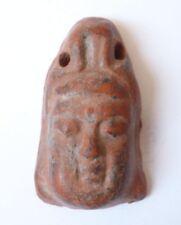 Amulette pendentif tête en terre cuite Bouddha