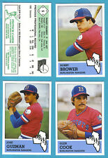 1983 Fritsch Midwest League Team Set Burlington Rangers