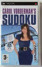 CAROL VORDERMAN'S SUDOKU SONY PSP GAME brand new UK ORIGINAL