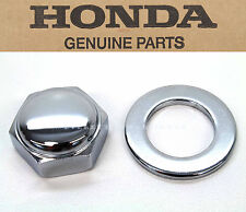 New Genuine Honda Steering Stem Chrome Nut & Washer Many Models (See Notes)#R23