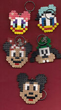 DISNEY CHARACTERS  HAMA PLASTIC BEADS LOT KEY CHAIN (MICKEY MOUSE AND  FRIENDS )