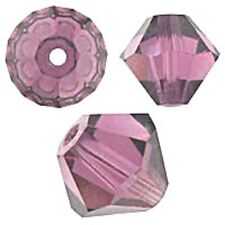 Swarovski Crystal Bicone. Amethyst Color. 4mm. Approx. 144 PCS. 5328