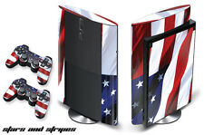 Skin Decal Wrap for PS3 Playstation Sticker Gaming Console 3 Super Slim USA FLAG