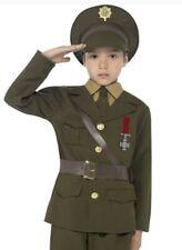 Ragazzi Ufficiale dell/'Esercito Costume WW2 TEMPO DI GUERRA Soldato Uniforme PRENOTARE SETTIMANA ABITO