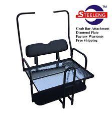 Rear Flip seat kit for Club Car Golf Cart DS (Black / 1982-2000) w/t grab bar