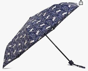 BNWT Radley Textured Dogs Umbrella - Blue/ Cream
