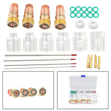 30Pcs Tig Welding Stubby Gas Lens Pyrex Cup Kit Fits For Tig Wp-17/18/26 Torch