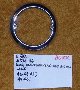 1946-49 Buick Parking/Signal Lamp Door (Bezel) NOS 5941116
