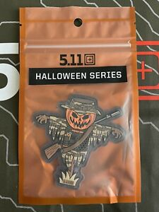 NEW 5.11 Tactical Halloween Series Scarecrow Hook Back Morale Patch 81882