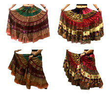 1 - Tribal Gypsy Belly Dance Sari Peasant Boho Skirt Banjara Bauchtanz Röcke