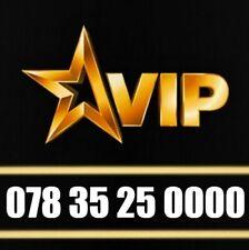 GOLD VIP MEMORABLE UNIQUE MOBILE PHONE NUMBER DIAMOND PLATINUM SIM CARD UK 0000