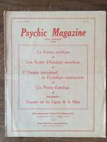 Psychic Magazine n° 156 (Mai 1922) * Henri Durville 1922 * TBE