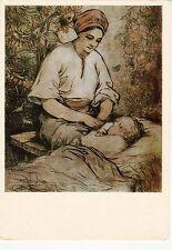 Haus Diener Junge Frau mit Kind von derehus alte russische Sowjetische Postkarte