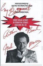Jewish Comedian Jackie Mason Signed Program & Tickets, Actor, Comedy