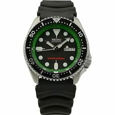 Seiko Customised Diver's 200m Automatic Green Chapter Men's Watch 42mm SKX007K1