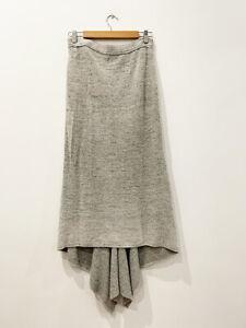 Designer Stella McCartney Size 10 42 IT Grey Wool Blend Knit Women's Skirt