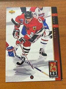 🏒 1992-93 Upper Deck Hockey Hat Tricks Insert #HT14 Steve LARMER 🏒