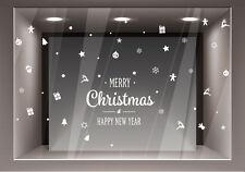 Adesivi Vetrofanie Natale Decorazione Natalizia Adesivo Vetrina Merry Christmas