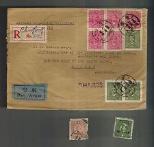 1945 Chunking China Chartered Bak of IAC Cover to Australia via Calcutta