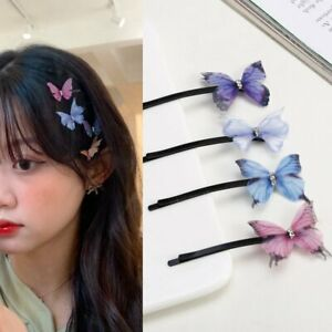 Elegant Butterfly Hairpins Hair Clips Handmade Barrette Women Wedding Jewelry