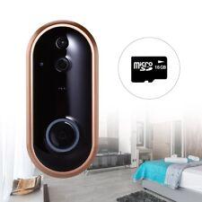 Smart Visual WiFi Wireless Doorbell 1080P Recording Phone Video Intercom +16GB