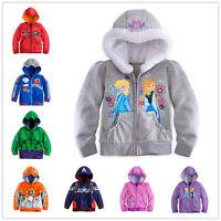 Disney Kids Frozen Elsa Queen Anna Sofia princess Boys Girl Hoodies Jacket coat