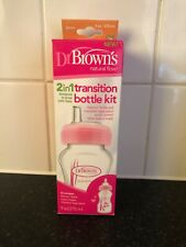 pink Dr Brown's transition bottle kit new in box