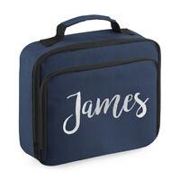 Custom Name Script Lunch Bag - Personalised Kids Cooler School Dinner Box Gift
